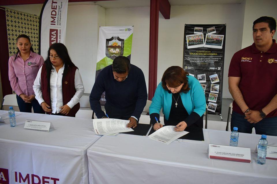 Firma de Acuerdo de Colaboración ENFT-IMDET.