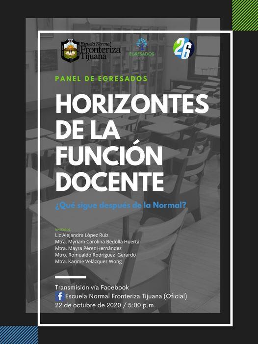 Panel, «Horizontes de la  función docente».