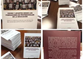 """Presentación del libro """"voces y apuntes desde los formadores de profesionales de la educación»."""