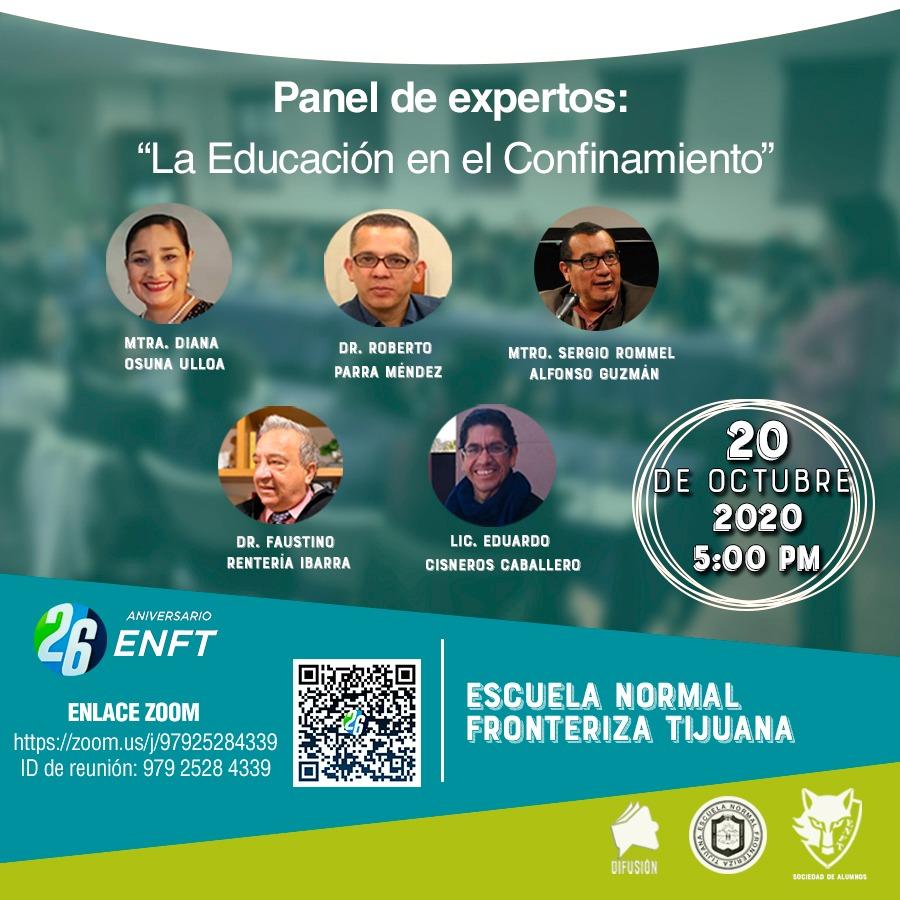 Panel de expertos, «La Educación en el Confinamiento».