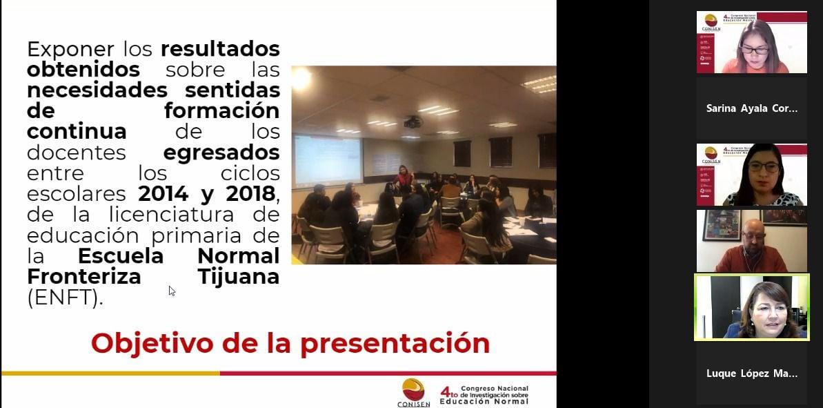 Participan docentes y alumnos de la ENFT en el 4to Congreso Nacional de Investigación sobre Educación Normal.