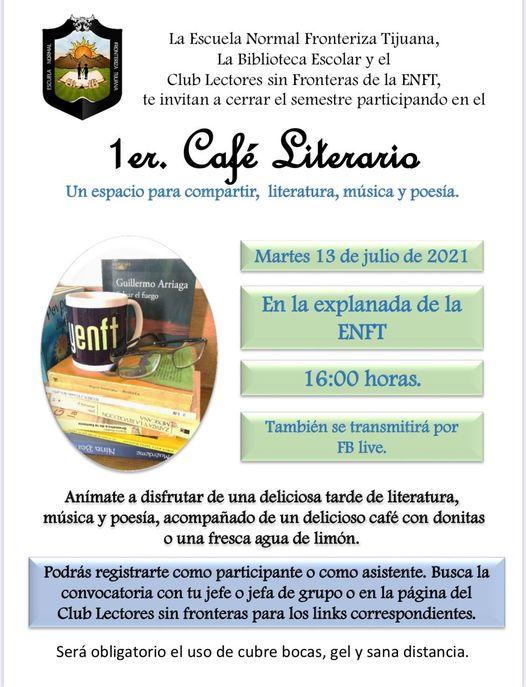 Invita el Club de Lectores ENFT al 1er. Café Literario